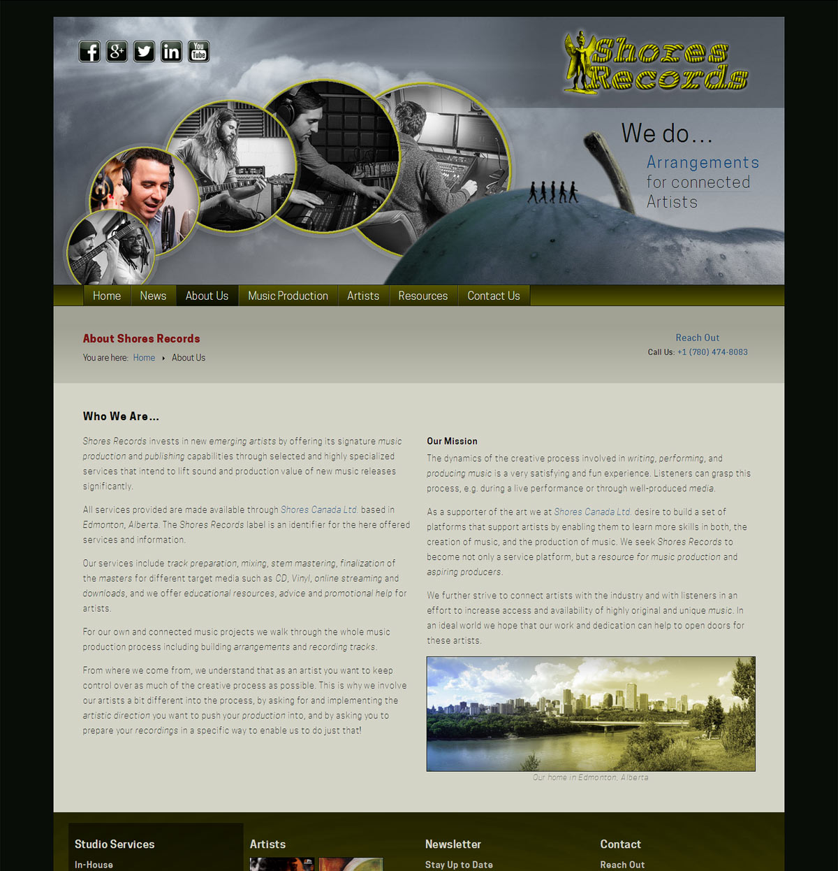 Website of Shores Records